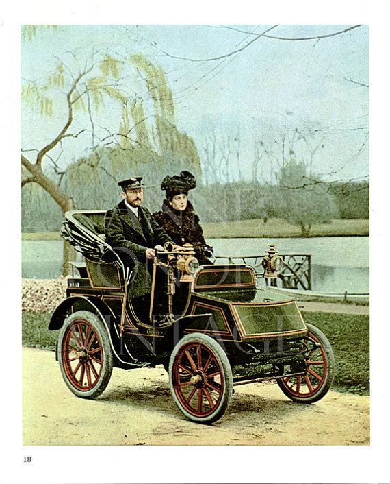 Old steam car print automobile photograph antique by annelondez1, $16.50