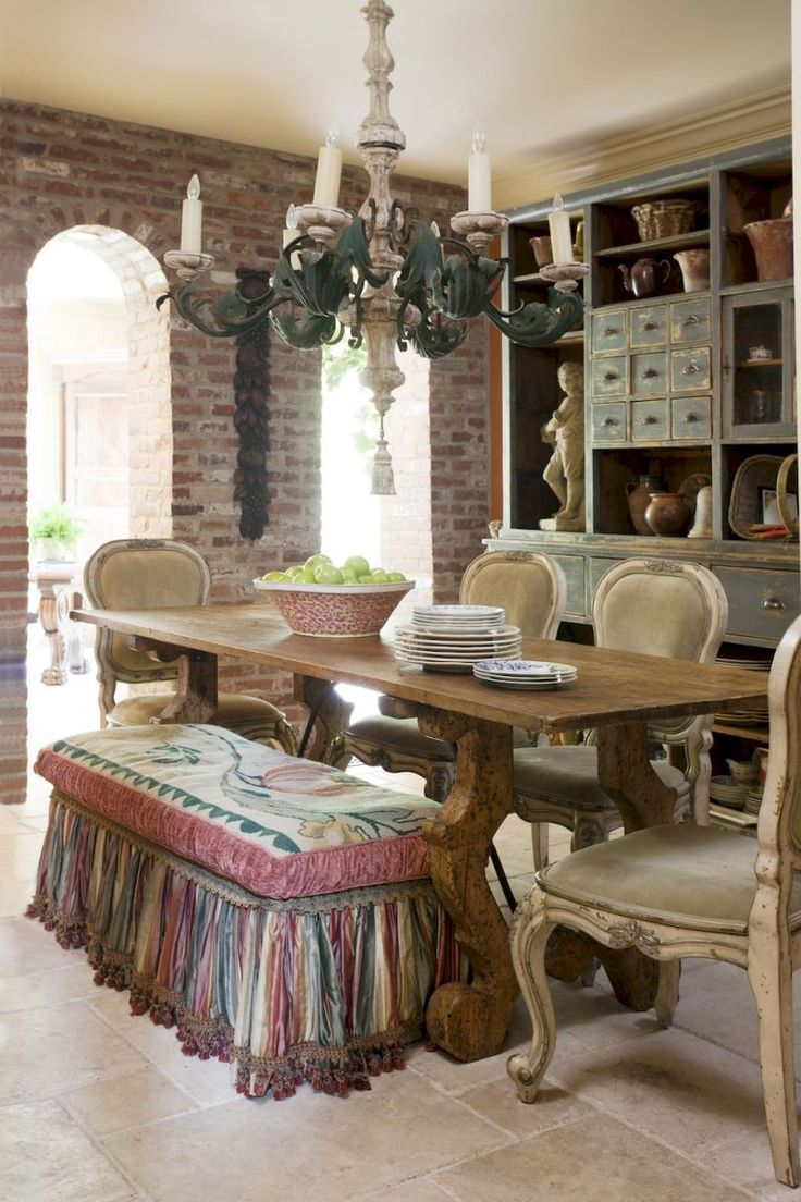 Vintage French Country Dining Room Design Ideas (7