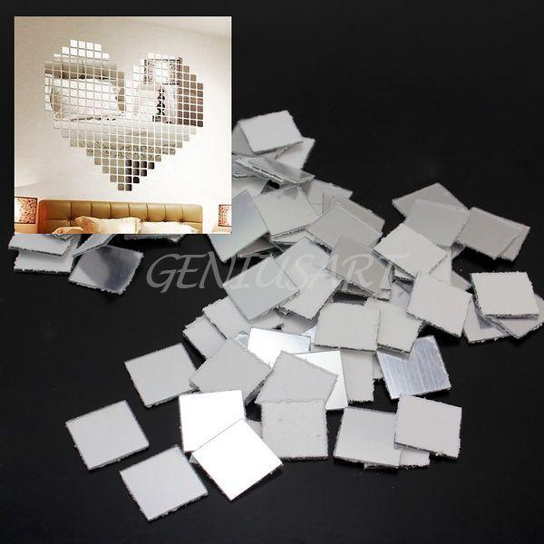 Simple er Mosaik Spiegel D Wandtattoo DIY Wandsticker Puzzle Hintergrund Haus Deko