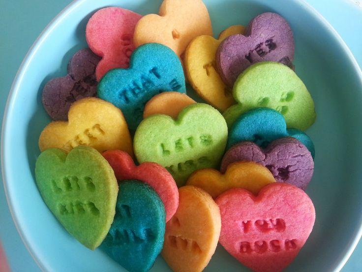 Kiwi Cakes: Rainbow Valentines Love - from Kiwicakes Test Kitchen (6 different flavours YUM)