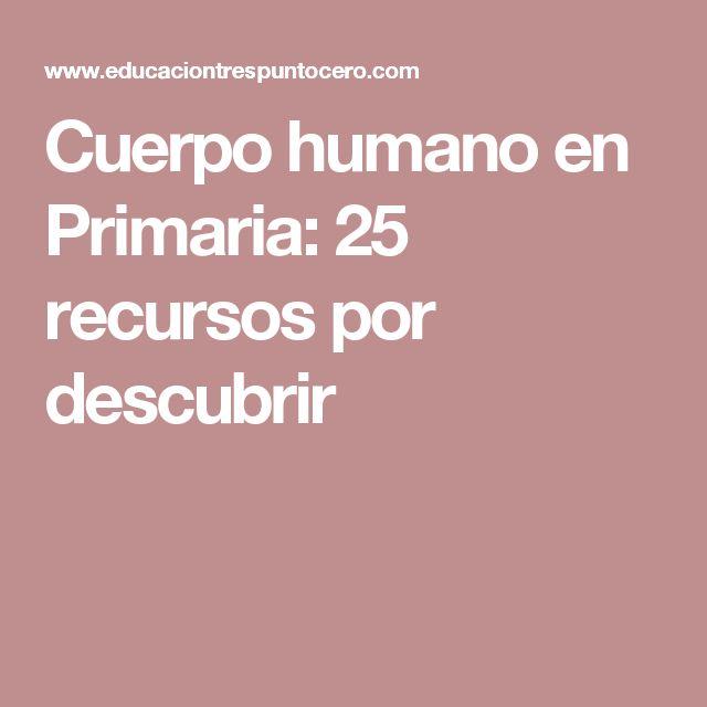 Cuerpo humano en Primaria: 25 recursos por descubrir