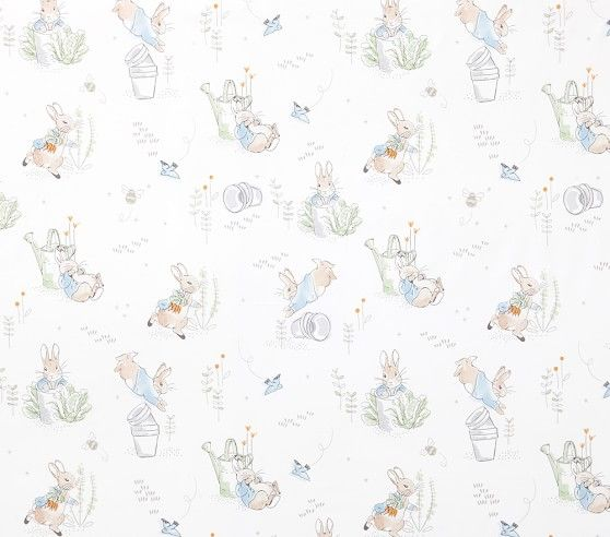 Wallpaper Ideas For Baby Girl Nursery Peter Rabbit Organic Crib Fitted Sheet Pottery Barn