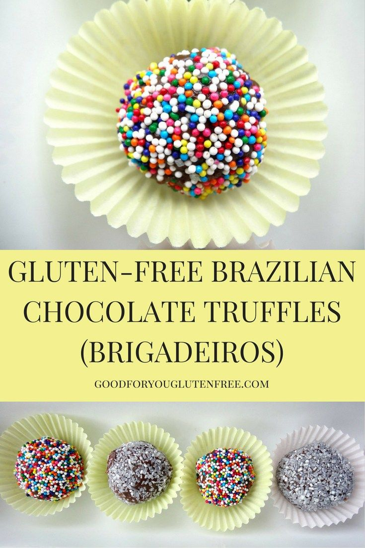 Easy and clean ingredient recipe to celebrate the Summer Olympics in Rio de Janeiro - click here for a Gluten-Free Brazilian Chocolate Truffles (Brigadeiros) recipe. #deathbychocolate #goodforyouglutenfree