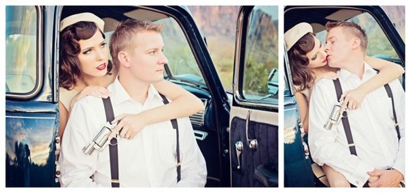 Engagement Photos Bonnie and Clyde