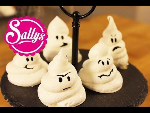 Baiser-Geister / schnelle Halloween Idee / Achtung jetzt wird es gruselig :) - YouTube