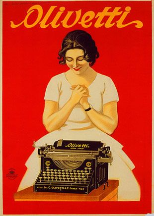 """Anno: 1925 Soggetto: """"Olivetti"""" Stampa Star –IGAP, Milano Provenienza: Raccolta Pirovano, Milano Note: Riproduzione F.lli Pirovano, Milano"""