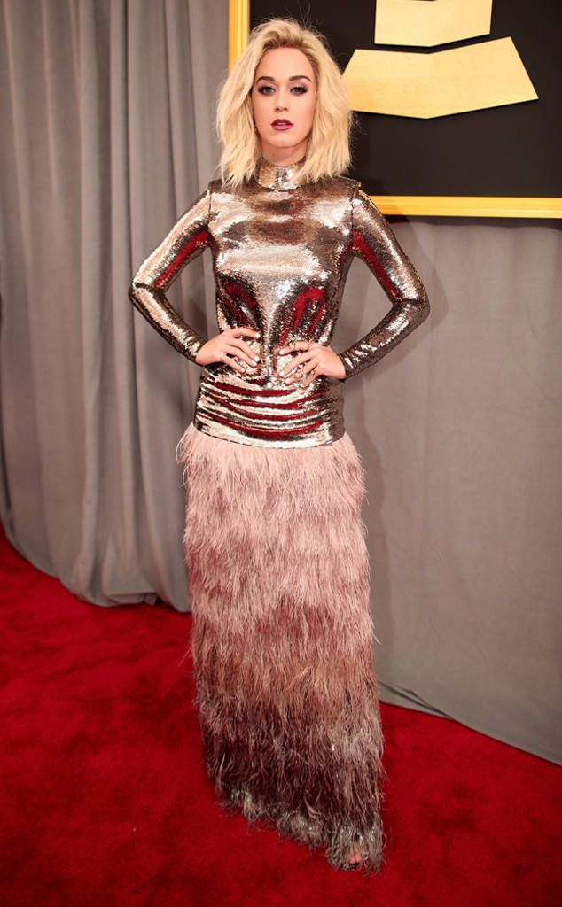 Katy Perry from Grammys 2017 Red Carpet Arrivals  In Tom Ford