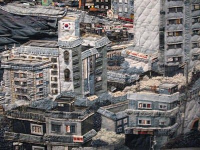 So Young Choi's intricate denim landscape