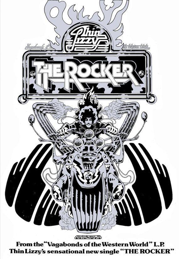 Poster Art Thin Lizzy The Rocker by JimFitzPatrickArtist