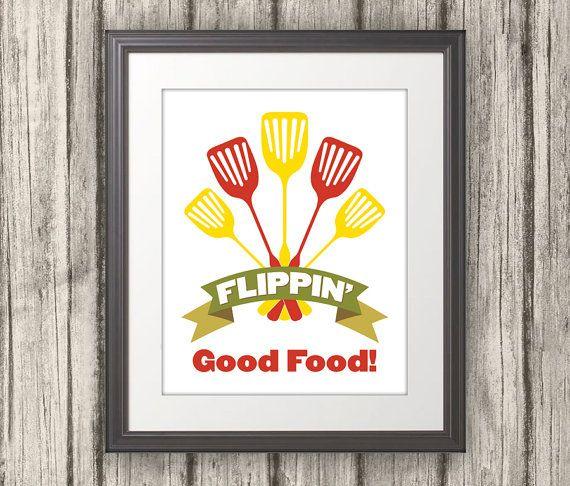 Flippin' Good Food Kitchen Quote Kitchen Art by BentonParkPrints, $12.00