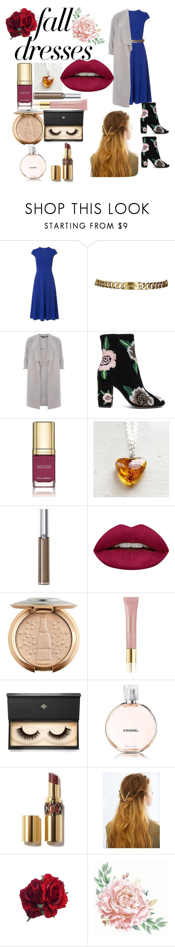 Fall 🍂🍂 by galaxyqueen34 on Polyvore Dorothy Perkins, Rebecca Minkoff, WithChic, Chanel, Huda Beauty, Lash Star Beauty, Giorgio Armani, AERIN and Dolce&Gabbana, Amber Heart Pendant by SecretStoneLab