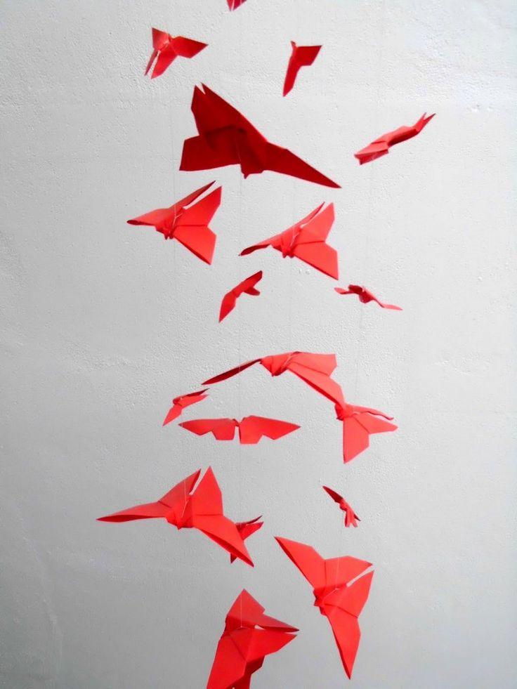 plus de 25 id es uniques dans la cat gorie oiseau origami. Black Bedroom Furniture Sets. Home Design Ideas