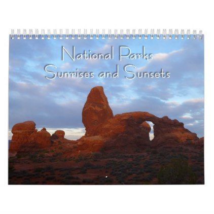 National Parks Sunrises and Sunsets Calendar - photography gifts diy custom unique special