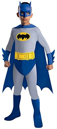 Batman The Brave and The Bold Batman Costume with Mask and Cape Medium
