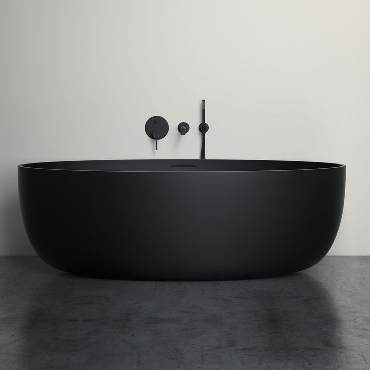 """17.4k Likes, 156 Comments - Architecture & Design (@architectanddesign) on Instagram: """"Vetrina Black Stone Resin Solid Surface Freestanding Bath designed by Lusso Stone. via:…"""""""