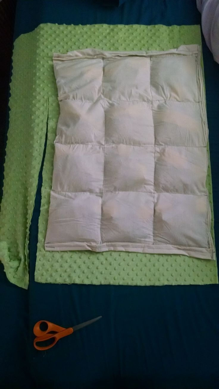 Weighted sensory blanket DIY