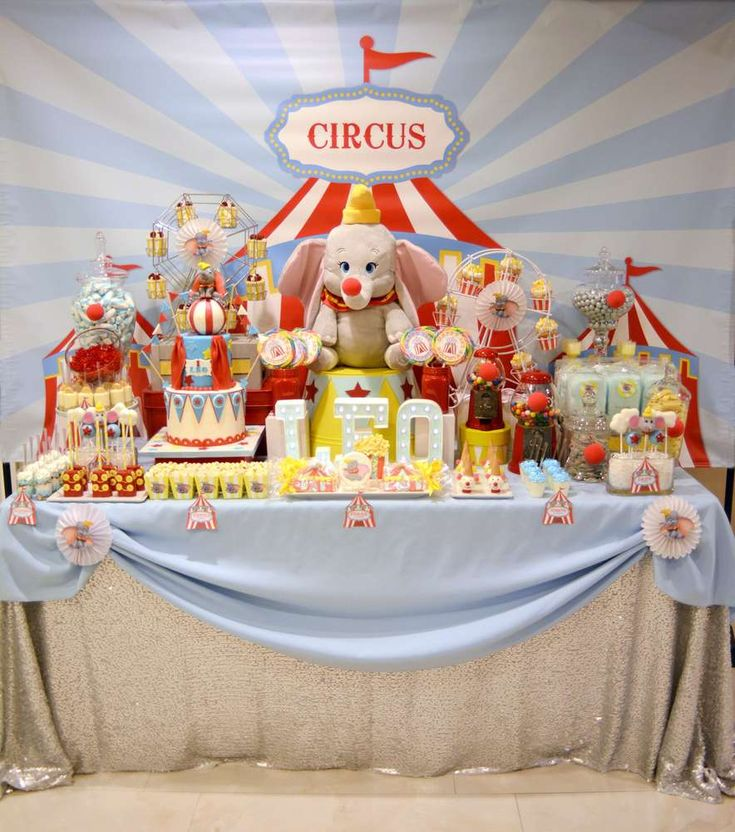 Dumbo Circus First Birthday Circus