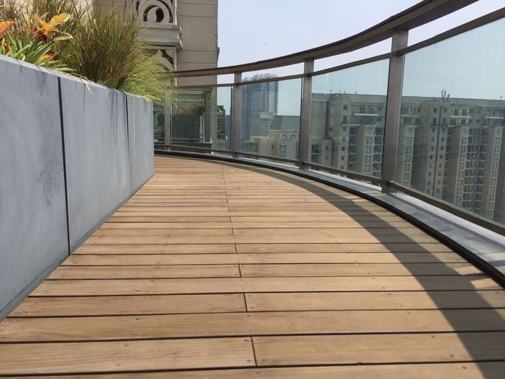 After over a year of weathering on a New Delhi rooftop deck, this Sand Decking still looks great. Finished in Protector Oil with direct fix. #lifetimebeauty #abodowood