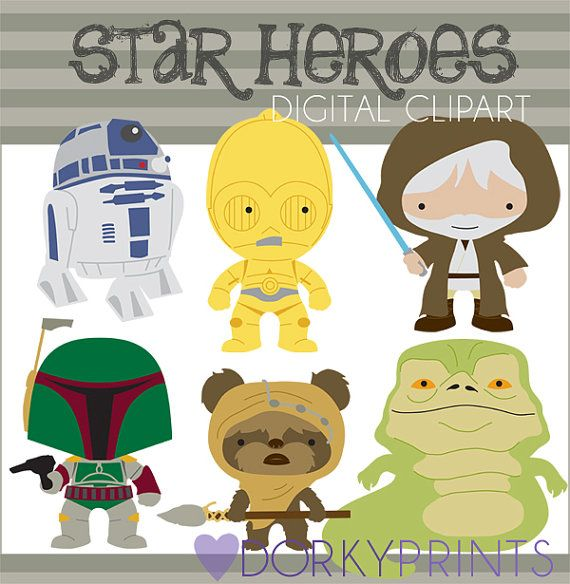 Héroes estrellas Clip Art - Personal y limitada comercial - Robot, cazador de recompensas