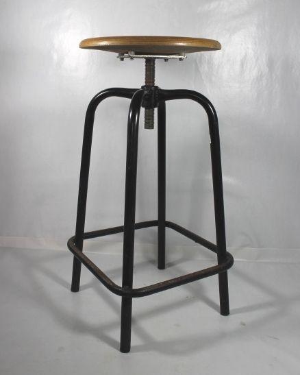 Sgabello INDUSTRIAL-CHIC/Vintage Stool/Hoker/Apothec/Urban/Bauhaus/Bar Stool(...