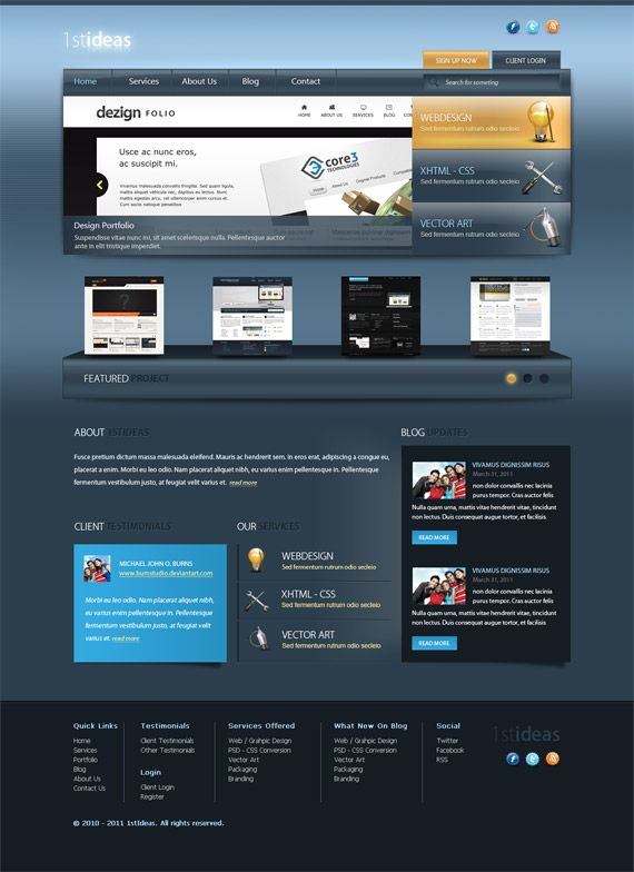 21 best Tutorials - Creating Website Layouts in Photoshop images on - how to create a website template