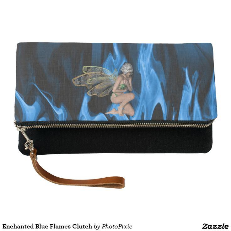Enchanted Blue Flames Clutch