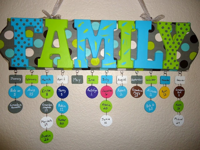 Family Birthday Sign Display Tutorial Great way to remember everyones Special Day!