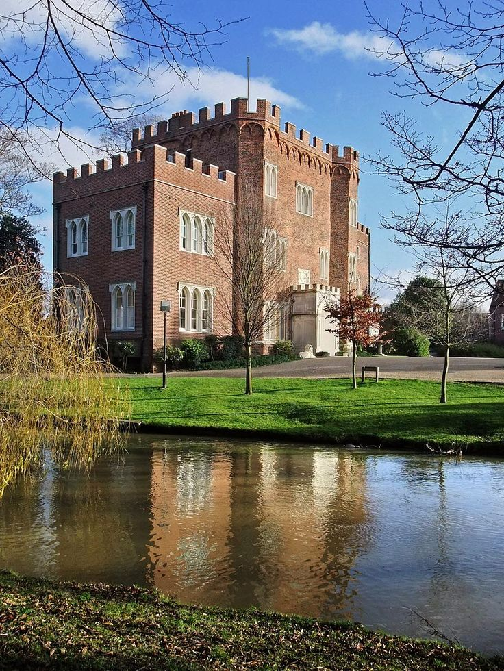Hertford Castle in Hertfordshire, England. A Norman castle built by Edward the Elder
