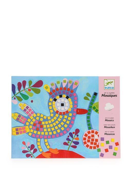 Kuş figürlü sayılı mozaik sanatı Drejo oyuncak (4-8 yaş). 22x28 cm - Mozaik boyutu: 6,5 x 6,5 mm. 3 yaşından küçük çocuklar için uygun değildir
