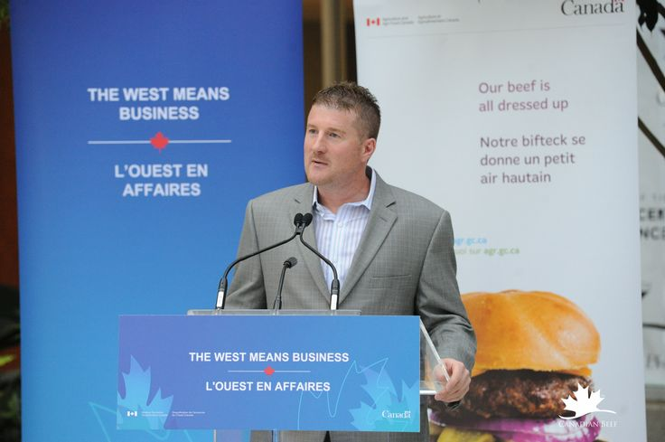 Rob Meijer, President of Canada Beef, Inc., at press conference for the Establishment of the Canadian Beef Centre of Excellence. #CdnBeefCentre