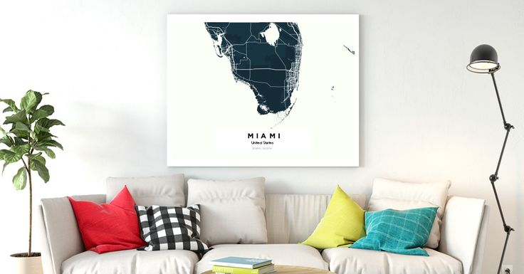 MiamiMiamiMiamiMiamiMiami | Custom Map Maker – Make Your Own Map Poster Online - YourOwnMaps