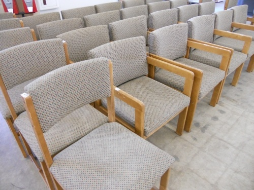 Oak Frame And Fabric Side Chairs. Large Quanities Available At Both South  Bend And Mishawaka