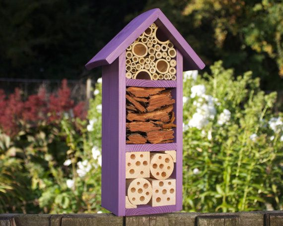 Insect and Bee Hotel, ThreeTier , in 'Purple Pansy'.