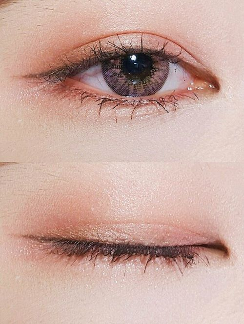 eyes, korean, and makeup image
