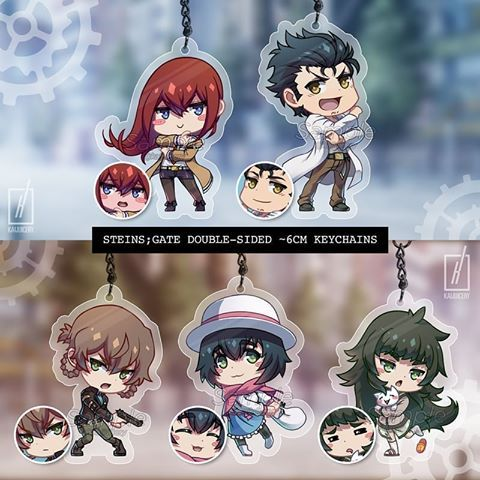 Finally Completed My Steins Gate Keychain Set I M Excited To