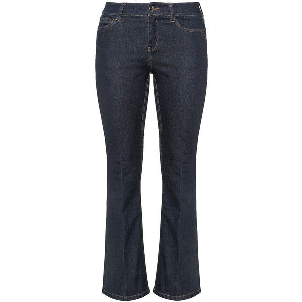 Triangle Dark-Blue Plus Size Bootcut jeans (180 BRL) ❤ liked on Polyvore featuring jeans, plus size, bootcut jeans, 5 pocket jeans, plus size boot cut jeans, long bootcut jeans and dark blue jeans