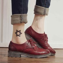 Plana sapatos Oxford para mulheres flats new outono 2015 moda feminina sapatos…