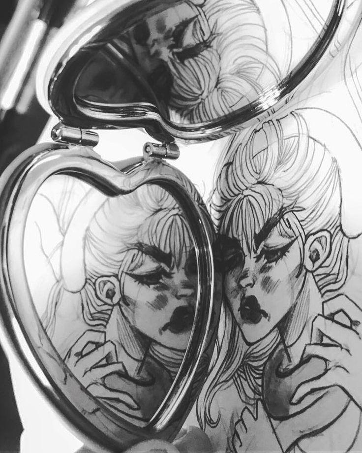 "214 Me gusta, 4 comentarios - Freelance Illustrator (@claudiarosadoart) en Instagram: ""Artistic preview of a sketch im doing for future acrylic paintings 🖤🐍 #barcelonaart #inkfeature"""