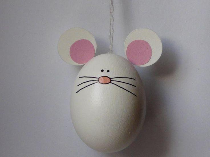 Osterei+weiße+oder+graue+Maus+von+Ostereiershop+auf+DaWanda.com
