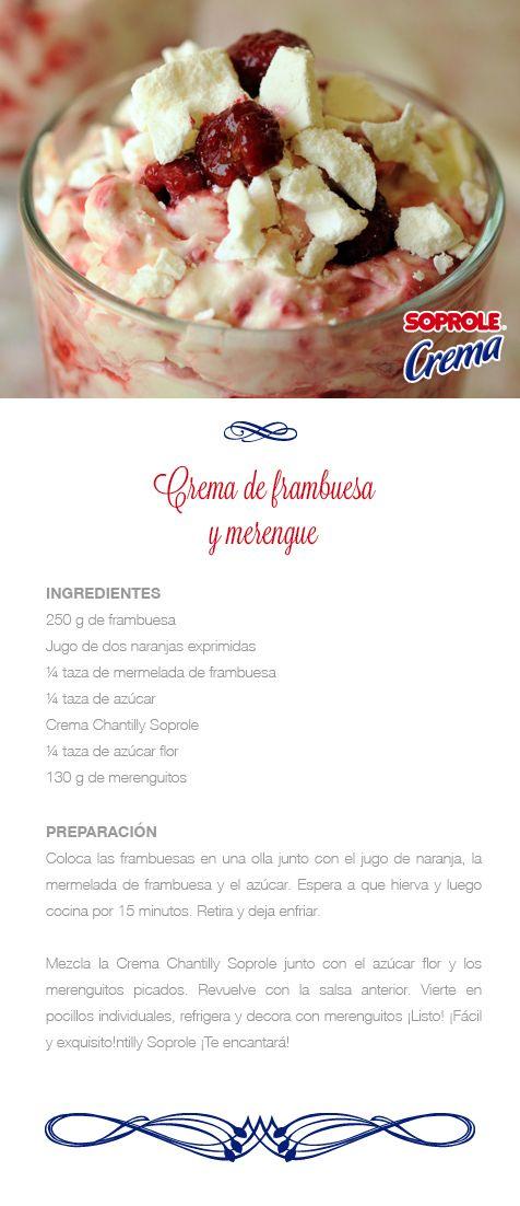Crema de Frambuesa y Merengue