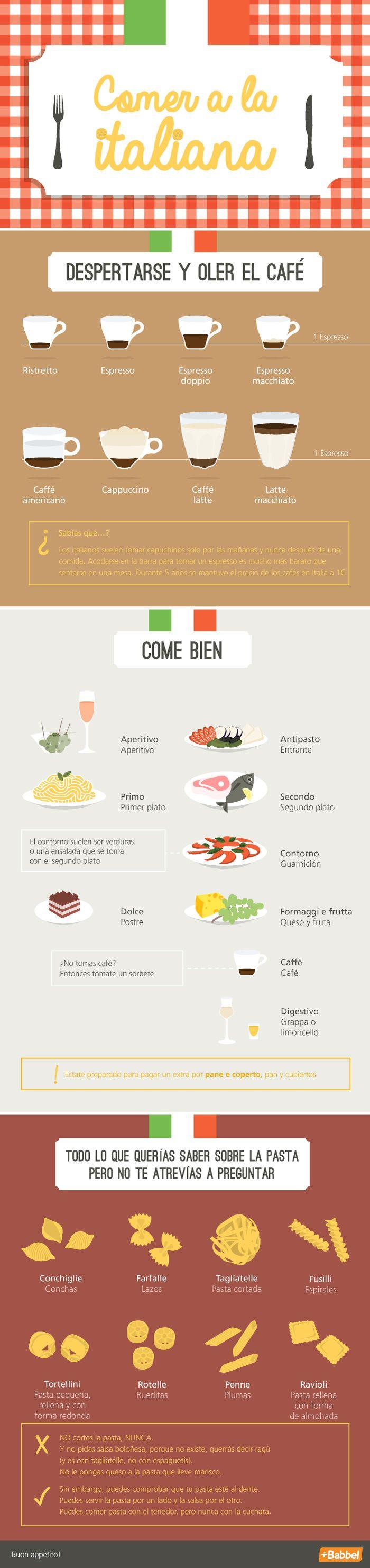 La primera comida en Italia es una verdadera aventura... si quieres saber todo sobre la comida italiana, ¡estás de suerte!