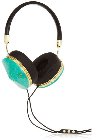 Frends | Taylor leather and resin headphones | NET-A-PORTER.COM