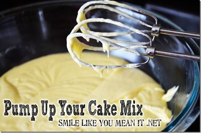 Improve your cake mix cake plus a recipe for the best Vanilla Buttercream Frosting - from Smile Like You Mean It