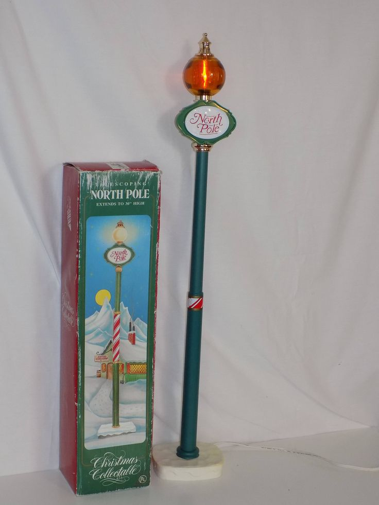 "Vintage Santa's Best Telescoping North Pole Lamp Post 30"" Christmas Light by OldVintageRetroStore on Etsy"