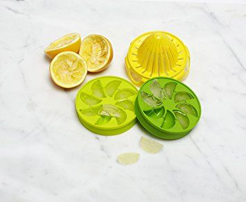 Full Circle Lemon Drops citrus ice cube infuser set