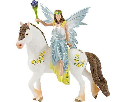 SCHLEICH Bayala Eyela i festkjole - til hest