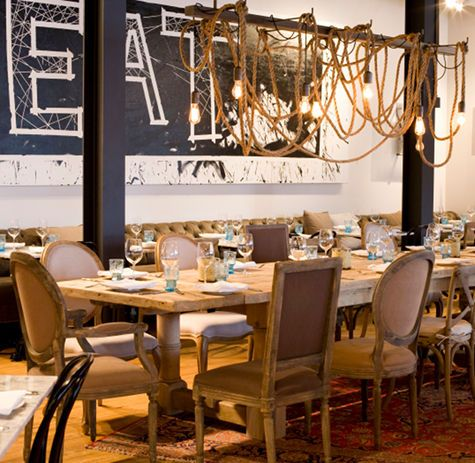 industrial style dining room lighting. interesting rope lighting and blackboard lightingindustrial style industrial dining room y