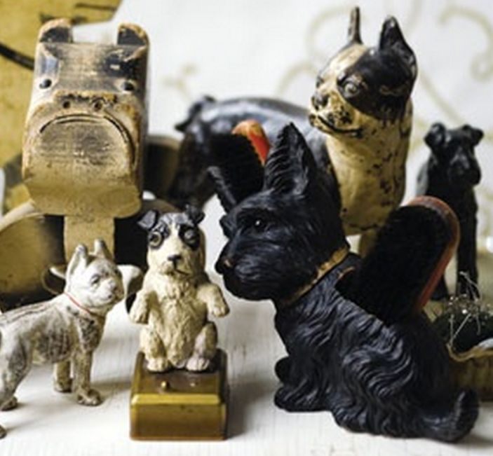 Cast Iron Collectible Dog Doorstops ♥♥ I Love Em!