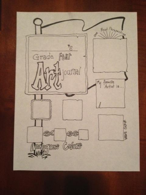 4th Grade Art Journal Front PageArt Lessons, Continuous Art, Art Journals, Shorts Stories, Front, Favorite Book, Bedeutet Kunst, Art Projects, 4Th Grade Art