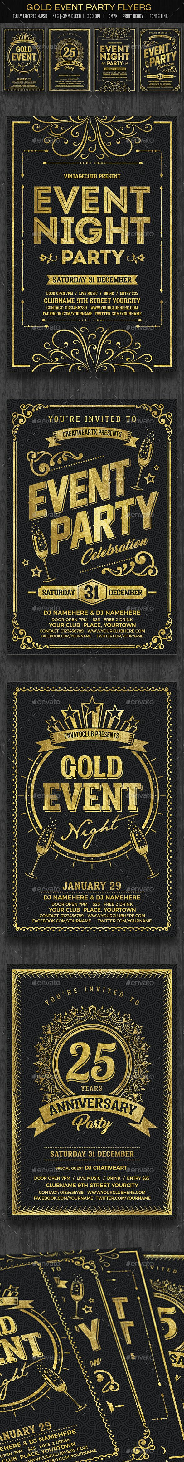 best ideas about event flyers flyer design gold event flyers set